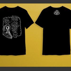 Black-Shirts Artwork on Front, Logo on Back