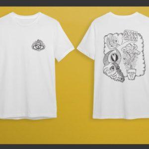 White-Shirts, Logo on Front Artwork on Back