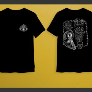 Black-Shirts Logo on Front, Artwork on Back